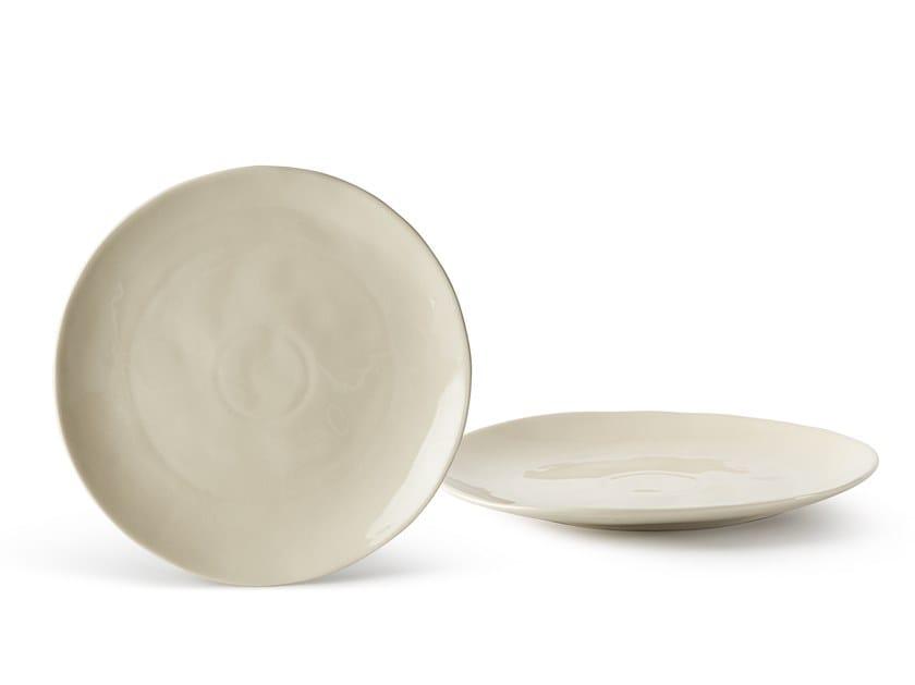Porcelain stoneware dinner plate SALVIA | Dinner plate by Fill