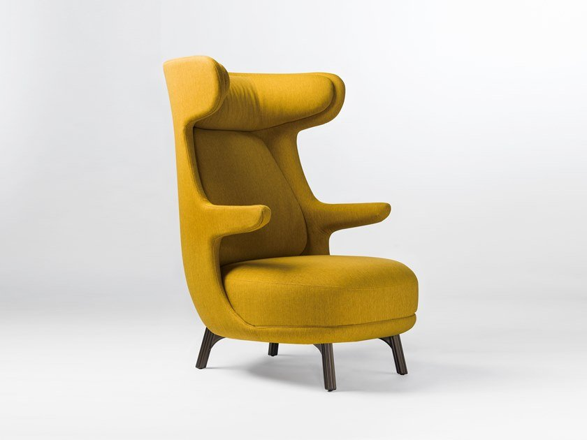 Fabric armchair with removable cover DINO by BD Barcelona Design