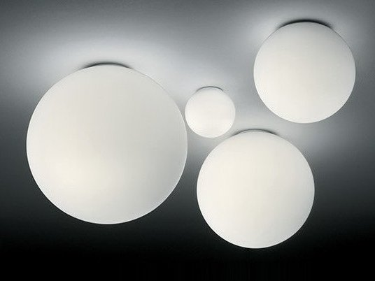 Halogen blown glass ceiling lamp DIOSCURI | Ceiling lamp by Artemide