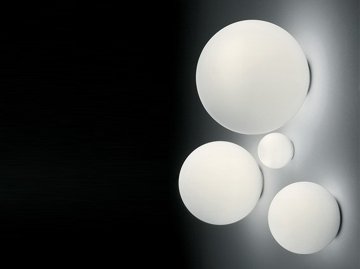 Halogen blown glass wall lamp DIOSCURI | Wall lamp by Artemide