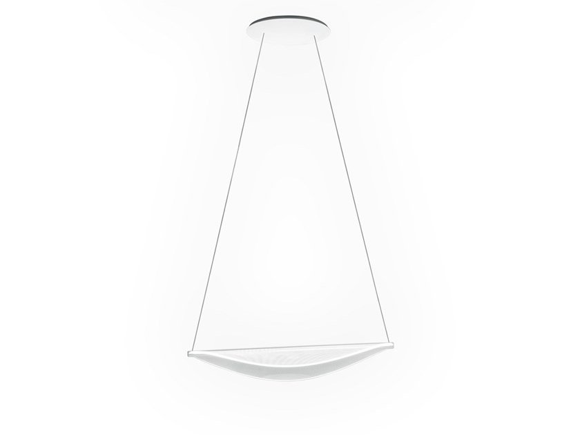 LED direct light PMMA pendant lamp DIPHY_P1 by Linea Light Group