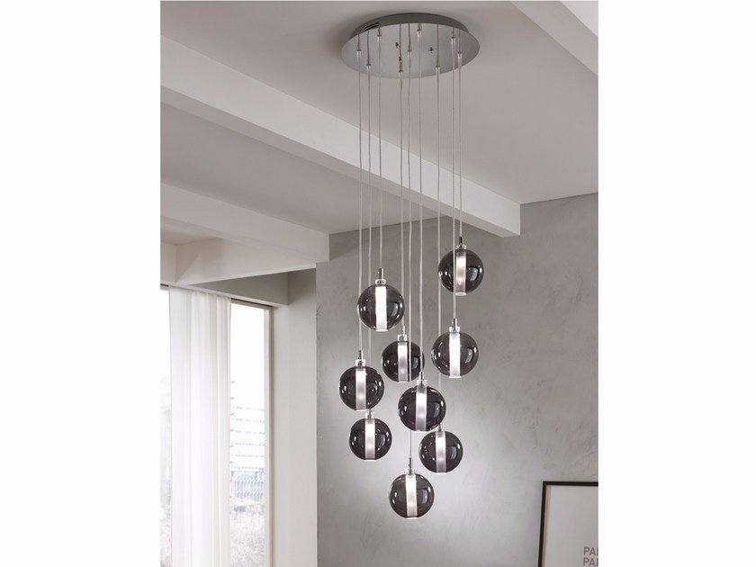 Direct light blown glass pendant lamp ECLISSE | Direct light pendant lamp by Cangini & Tucci
