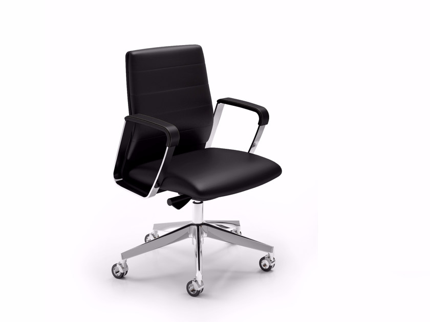 Low back executive chair DIRECTA | Executive chair by Quadrifoglio