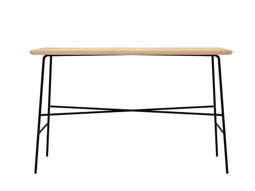 Rectangular oak console table OAK DISC | Console table by Ethnicraft