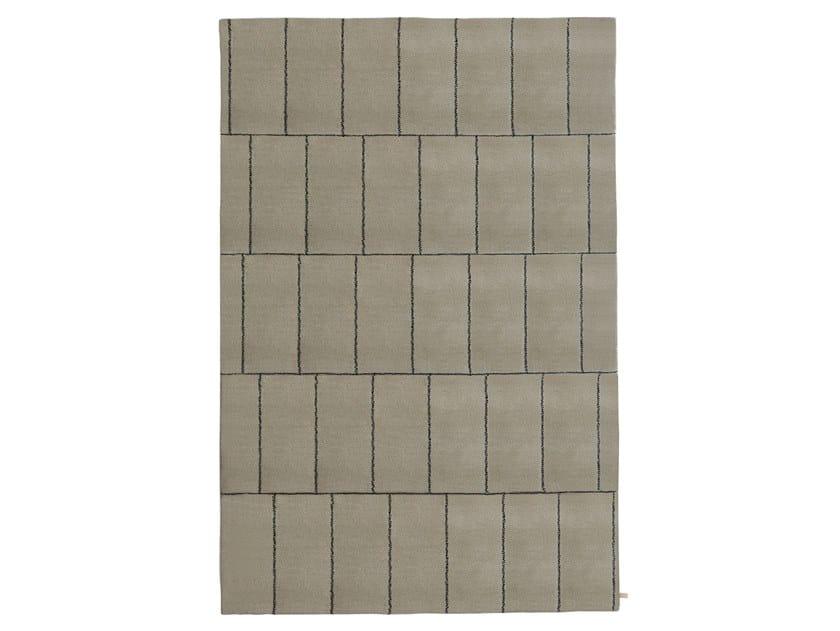 Handmade rectangular wool rug DISCONTINUO by Porro