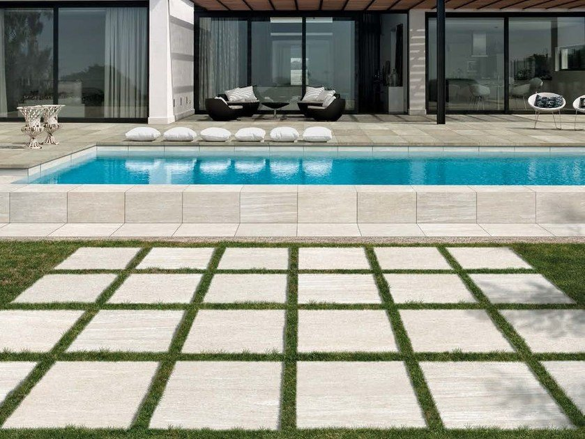 Porcelain Stoneware Outdoor Floor Tiles With Stone Effect Discover 20 Mm By