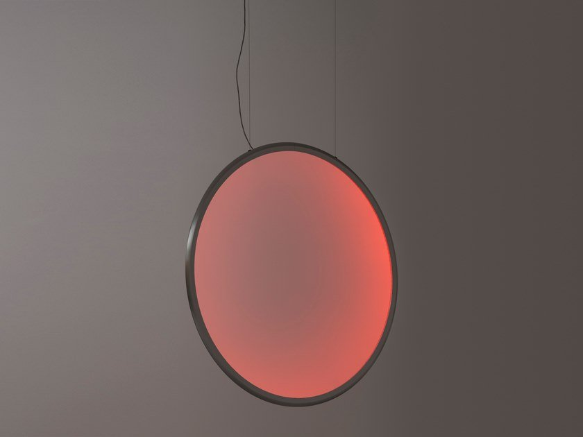 LED direct light RGB technopolymer pendant lamp DISCOVERY VERTICAL | RGB pendant lamp by Artemide