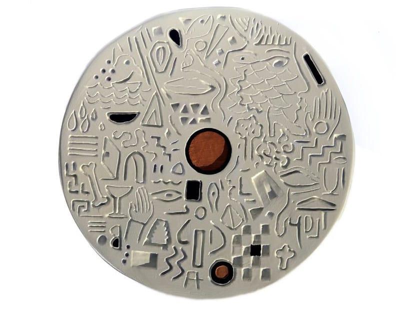 Ceramic sculpture DISK III by Kiasmo