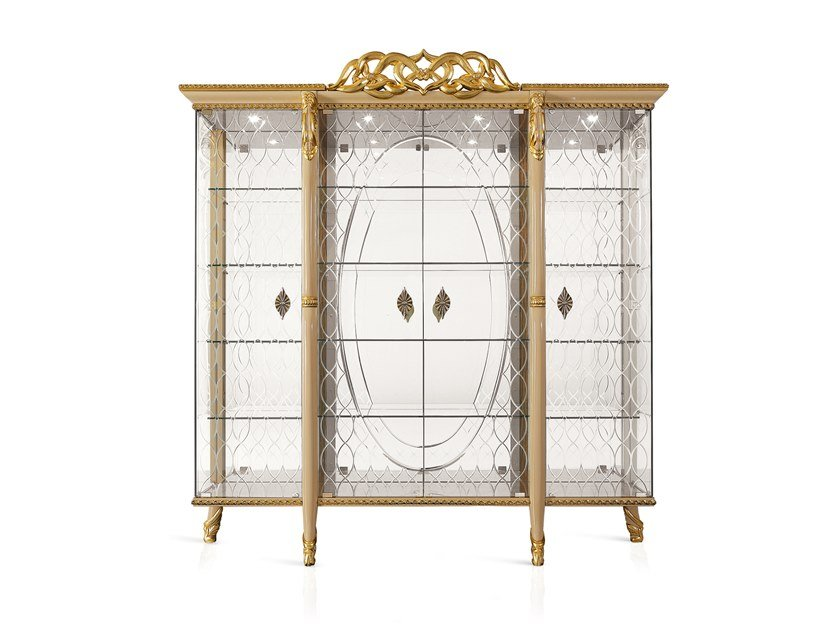 Classic style display cabinet HARMONY | Display cabinet by A.R. Arredamenti
