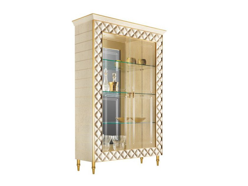 Wood and glass display cabinet SIPARIO | Display cabinet by ADORA