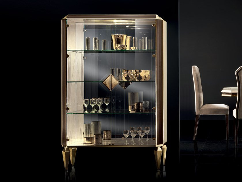 Display cabinet with integrated lighting DIAMANTE | Display cabinet by ADORA
