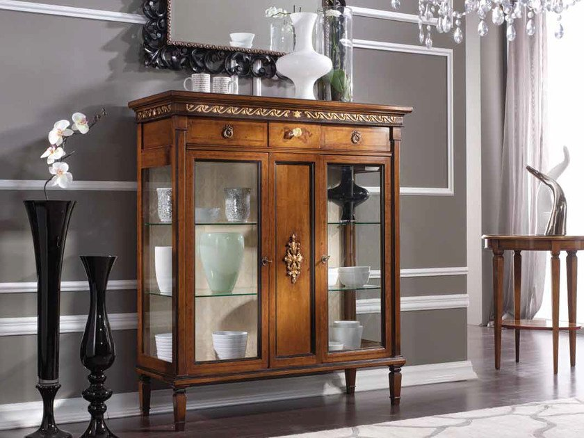 Solid wood display cabinet BARBARA | Display cabinet by Arvestyle