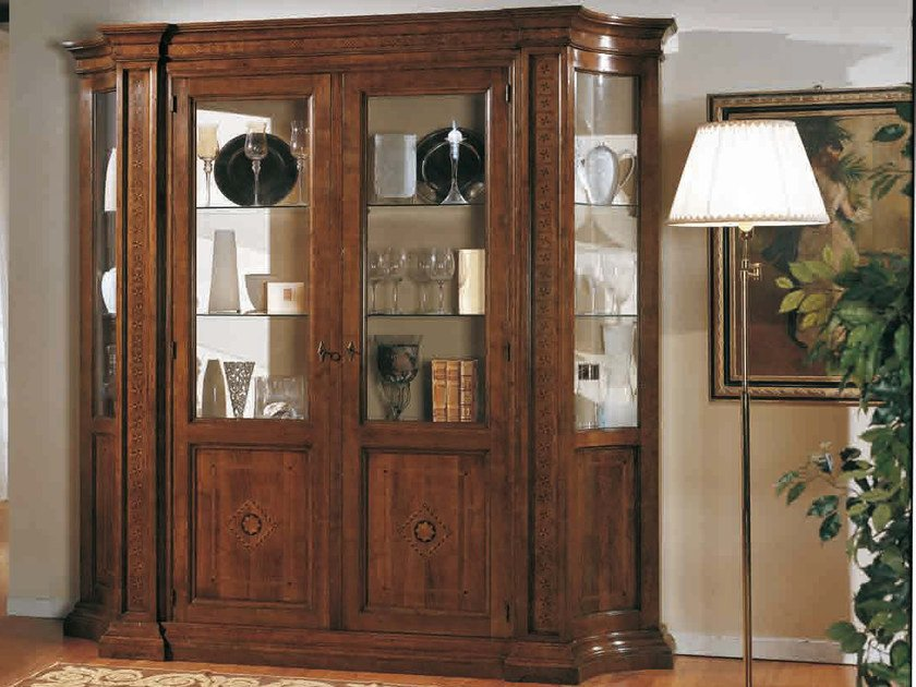 Wooden display cabinet TIZIANO   Display cabinet by Arvestyle