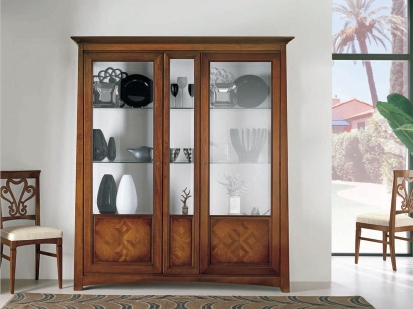 Solid wood display cabinet NAIMA | Solid wood display cabinet by Arvestyle
