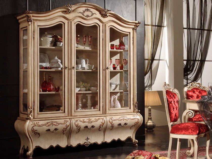 Lacquered solid wood display cabinet PERSIA | Display cabinet by Arvestyle