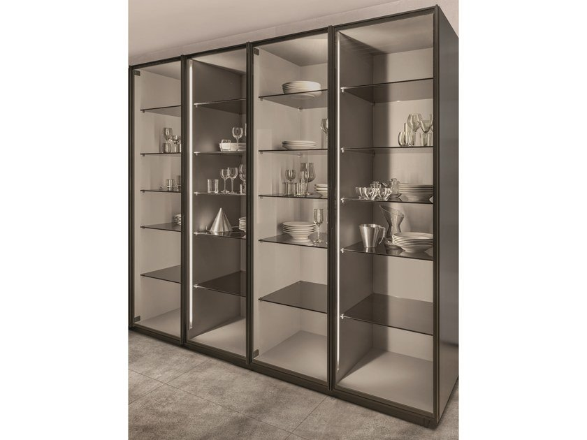 Tempered glass display cabinet TECA | Display cabinet by Euromobil