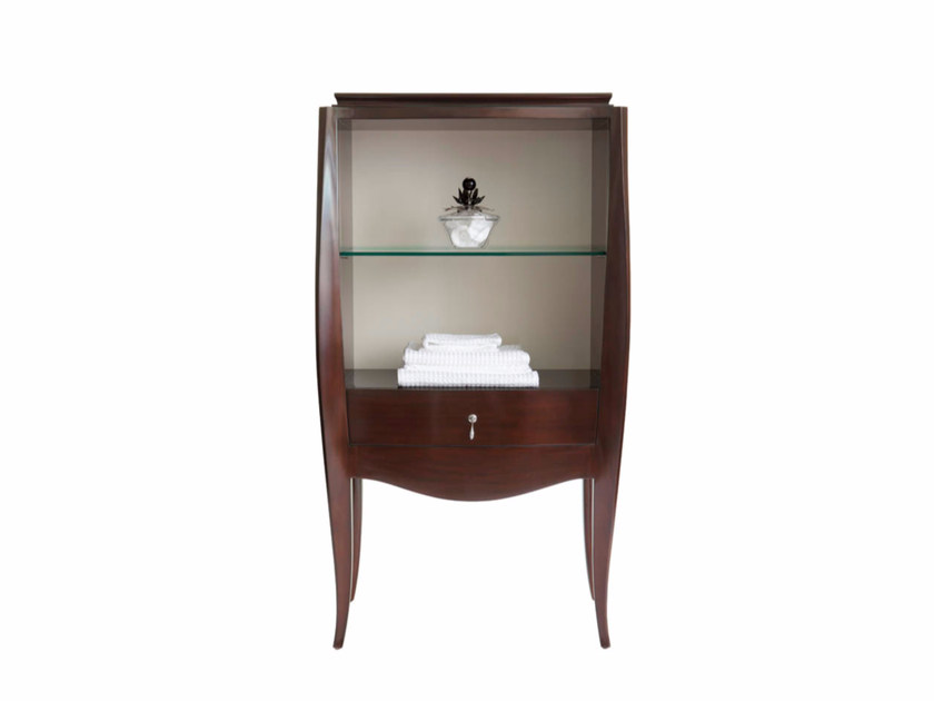 Open floorstanding wooden bathroom cabinet HERALD | Open bathroom cabinet by GENTRY HOME