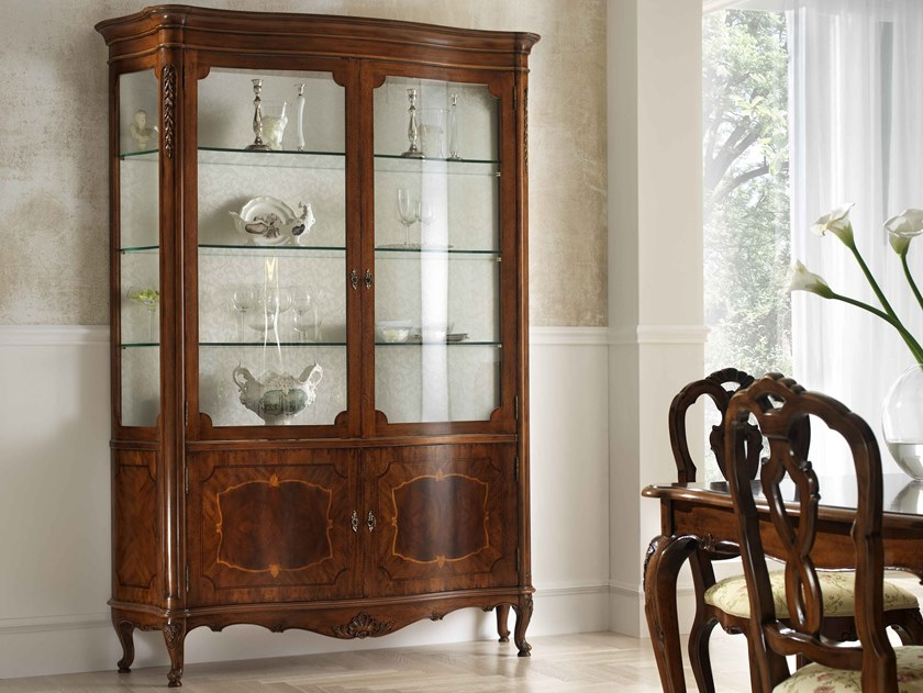 Walnut display cabinet VILLA PISANI | Display cabinet by MOLETTA