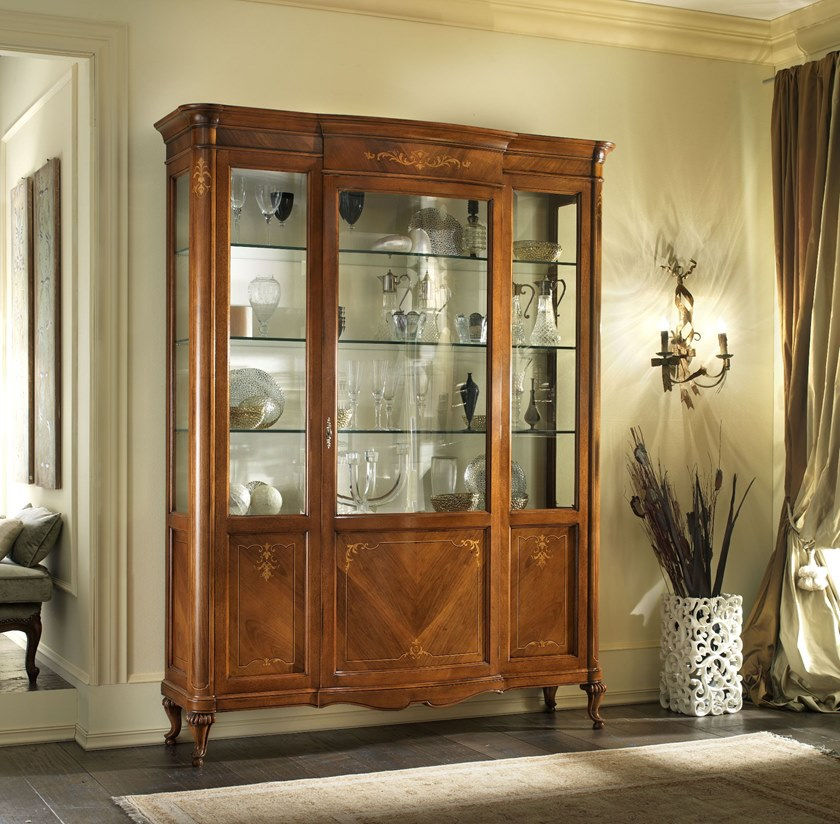 Walnut display cabinet VILLA GIUSTI | Display cabinet by MOLETTA