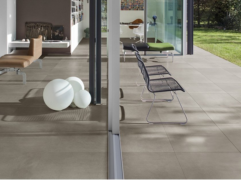 Antibacterial wall/floor tiles with concrete effect DISTRICT AVENUE by LEA CERAMICHE