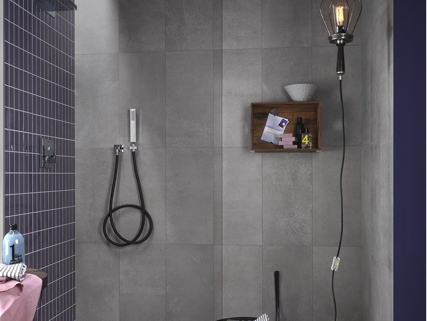 Antibacterial wall/floor tiles with concrete effect DISTRICT BOULEVARD by LEA CERAMICHE