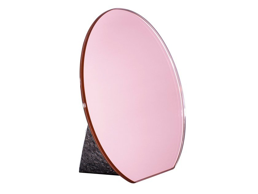 Countertop round stained glass mirror DITA by pulpo