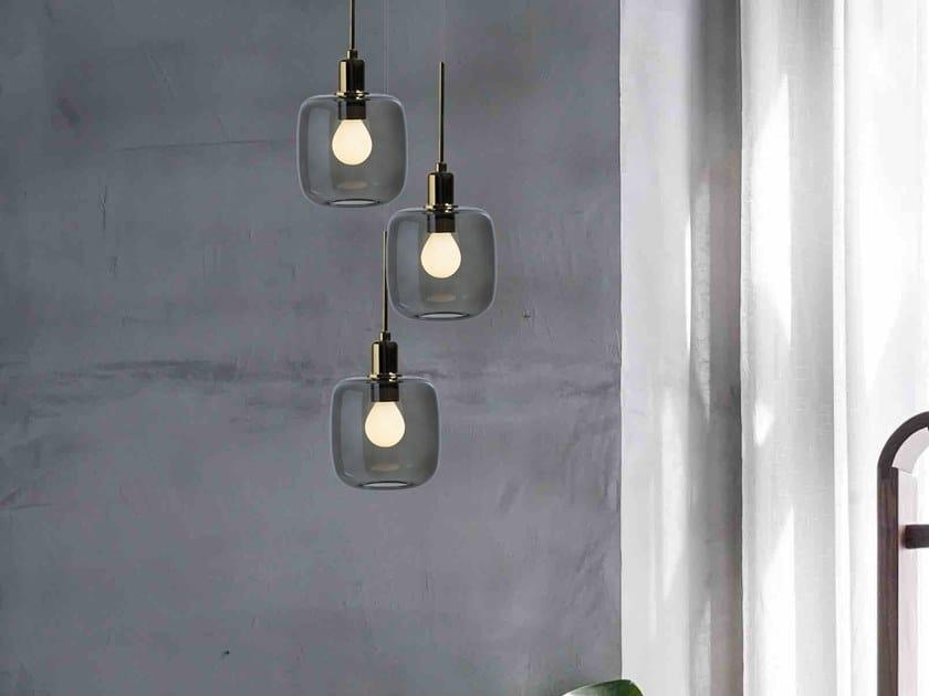 LED Borosilicate glass pendant lamp DIVA 3 by SP Light and Design