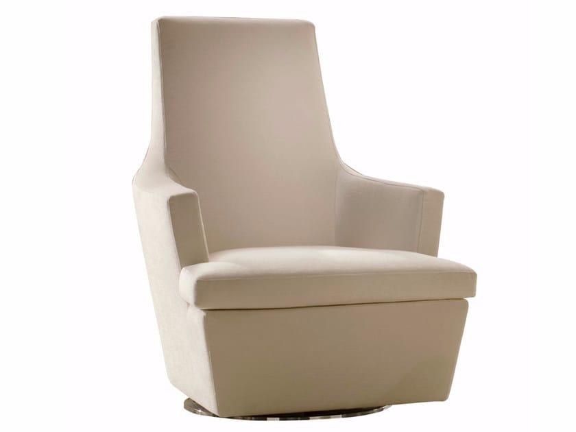 Swivel fabric armchair DIVA by CTS SALOTTI