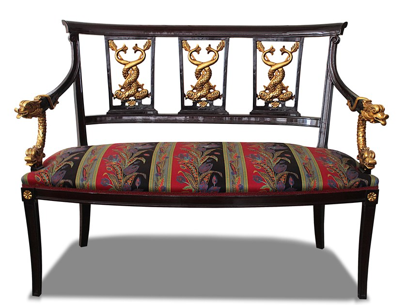 Upholstered fabric bench DIVANETTO by HEBANON