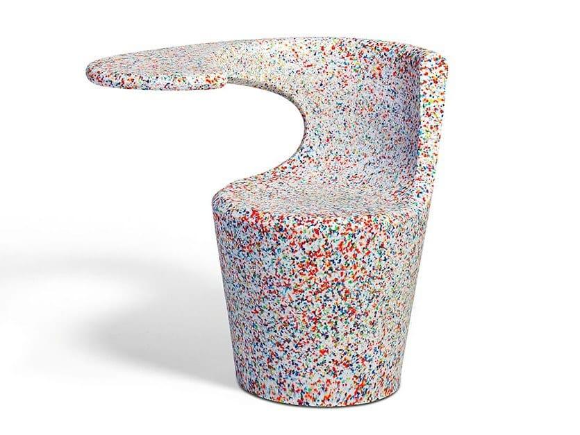 Ecopixel® chair with integrated magazine rack DIVINA ECOPIXEL by Felicerossi