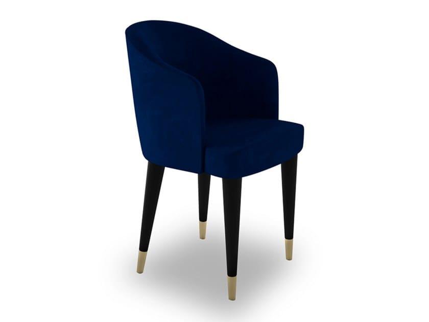 Velvet chair with armrests DIVINA | Velvet chair by EXENZA