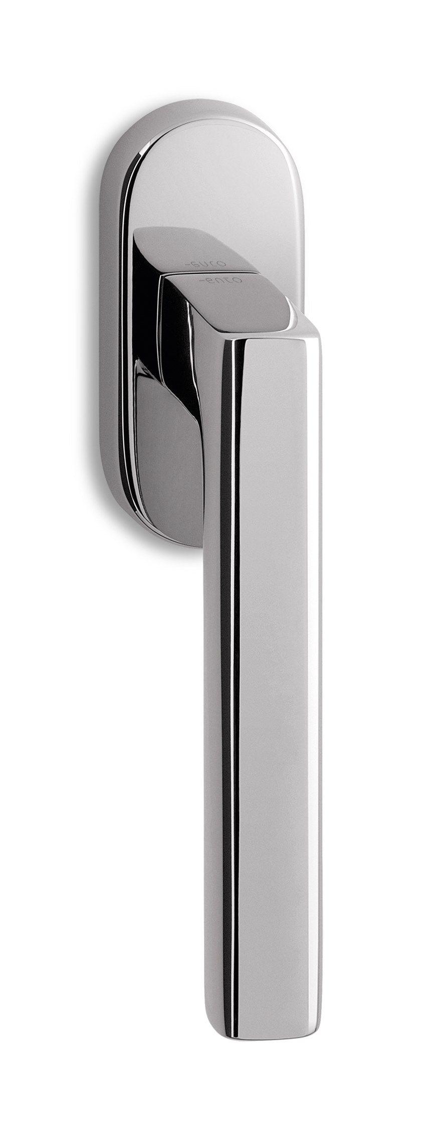 Brass window handle on rose UNIT | DK window handle by Ento
