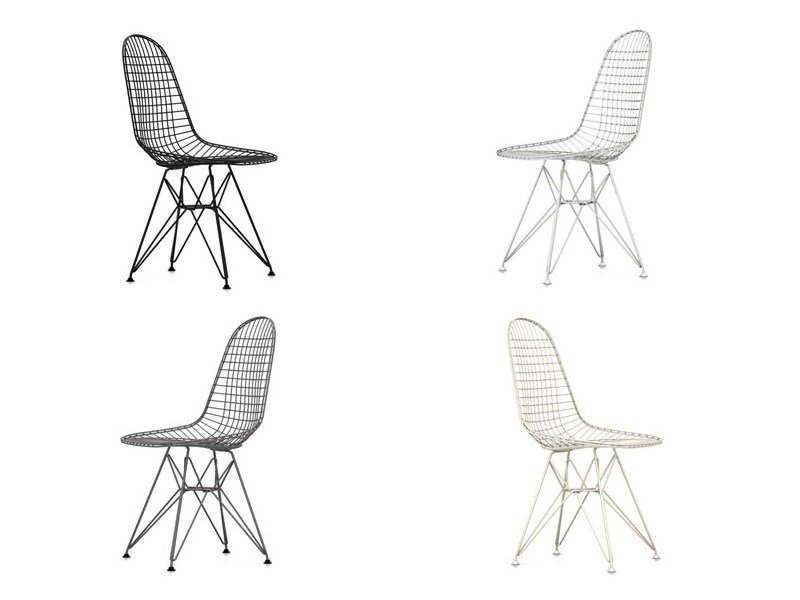 Metal chair DKR Wire Chair Collection By Vitra design Charles Eames