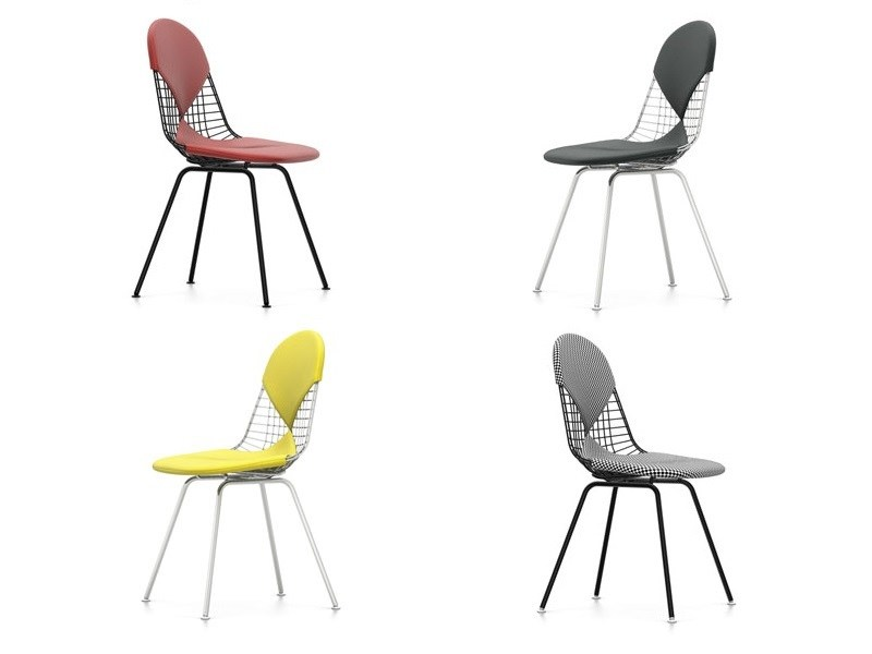 Sedia in acciaio DKX-2 by Vitra