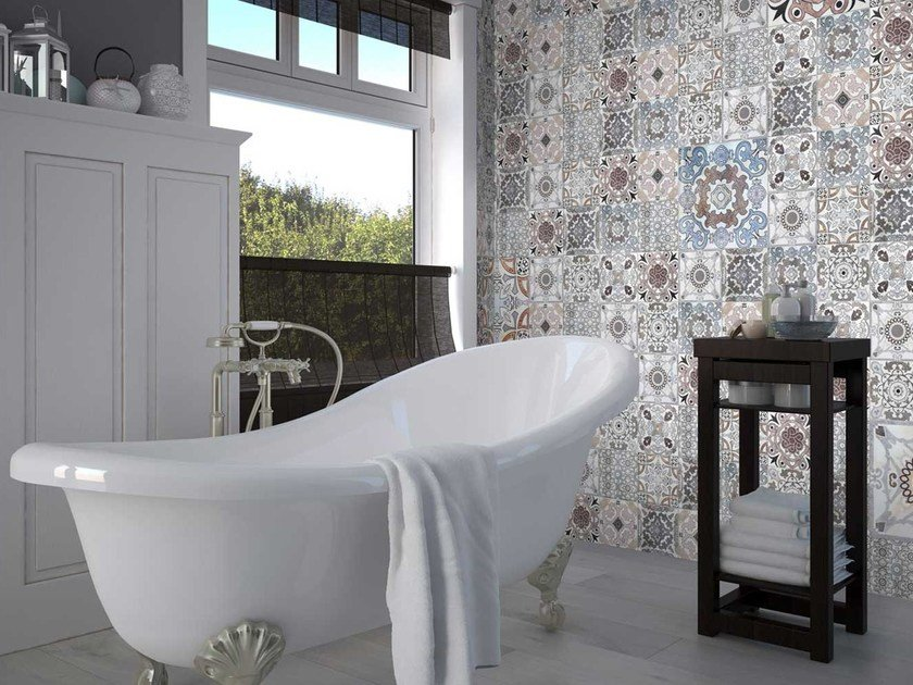 Motif washable panoramic non-woven paper wallpaper DL-CERAM by LGD01