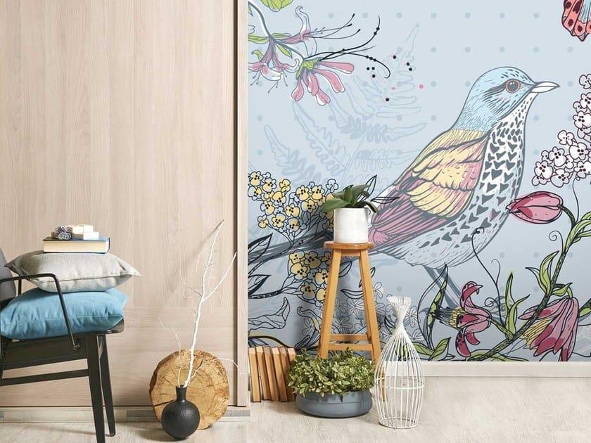 Carta da parati lavabile panoramica in carta non tessuta con motivi floreali DL-FAUNE & FLORE by LGD01