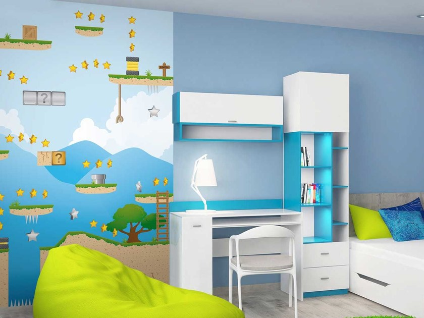Carta da parati lavabile panoramica in carta non tessuta per bambini DL-LEVEL by LGD01
