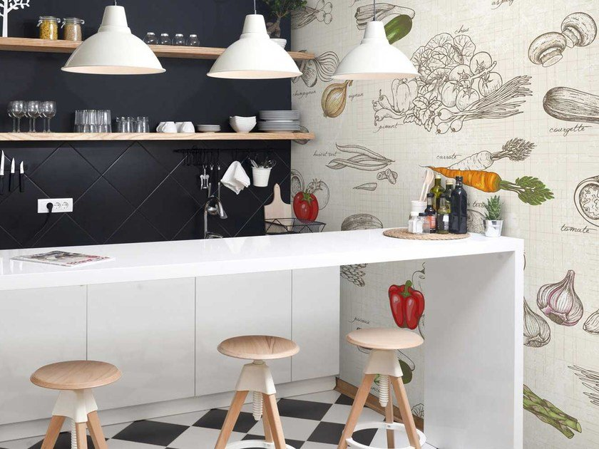 Washable panoramic non-woven paper wallpaper DL-PRIMEUR by LGD01