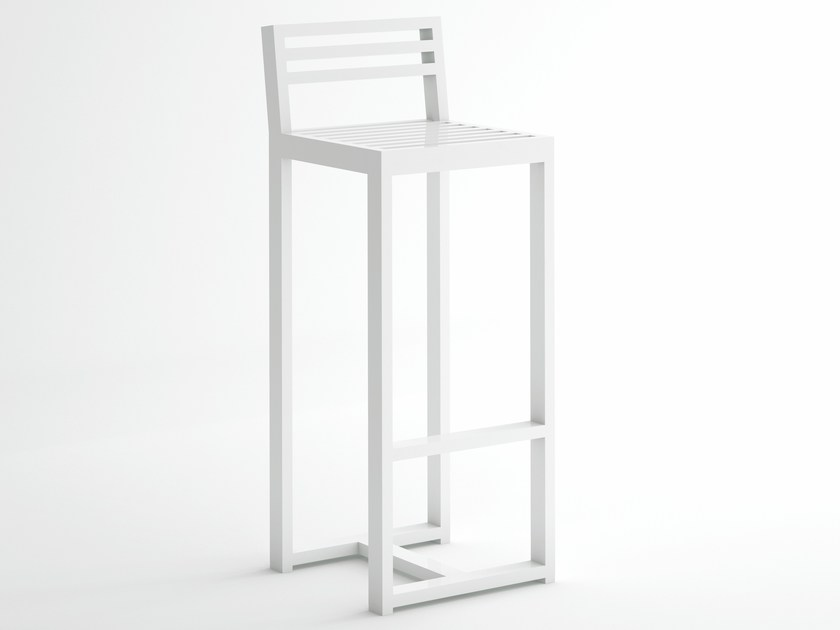 High aluminium stool with back DNA | Stool with back by GANDIA BLASCO