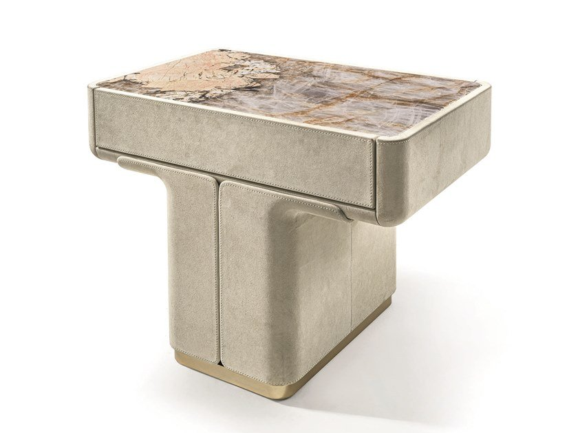 Leather bedside table DO   Bedside table by Longhi