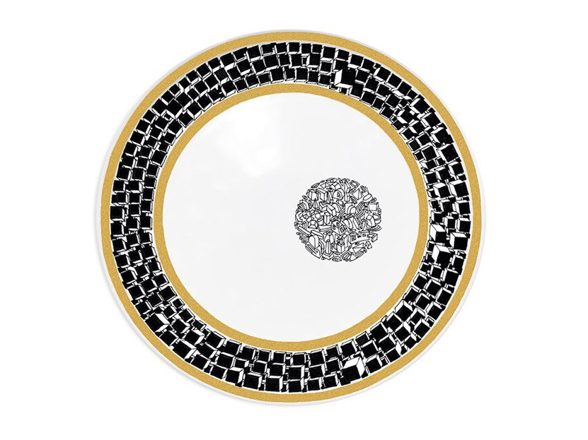 Ceramic dinner plate DOCTRINE by Kiasmo