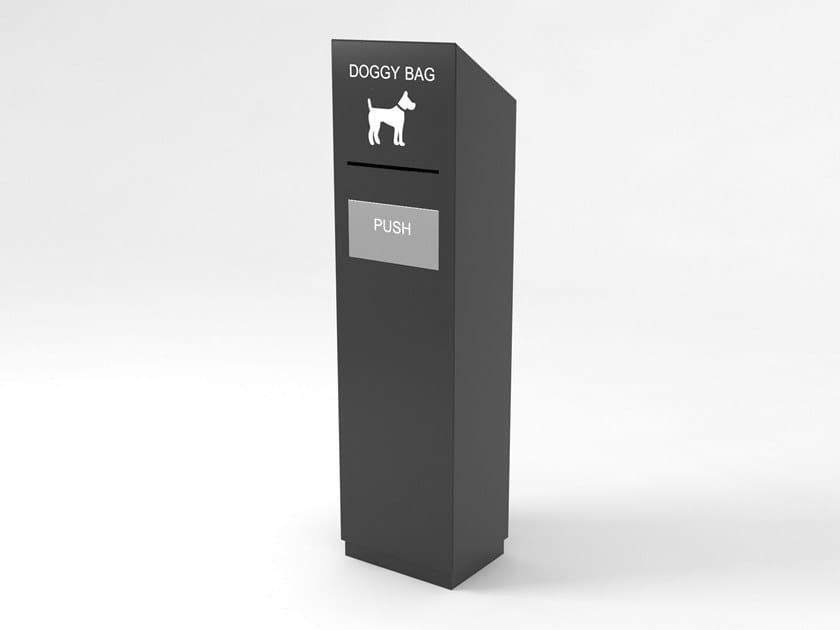 Galvanized steel litter bin DOGGY by LAB23