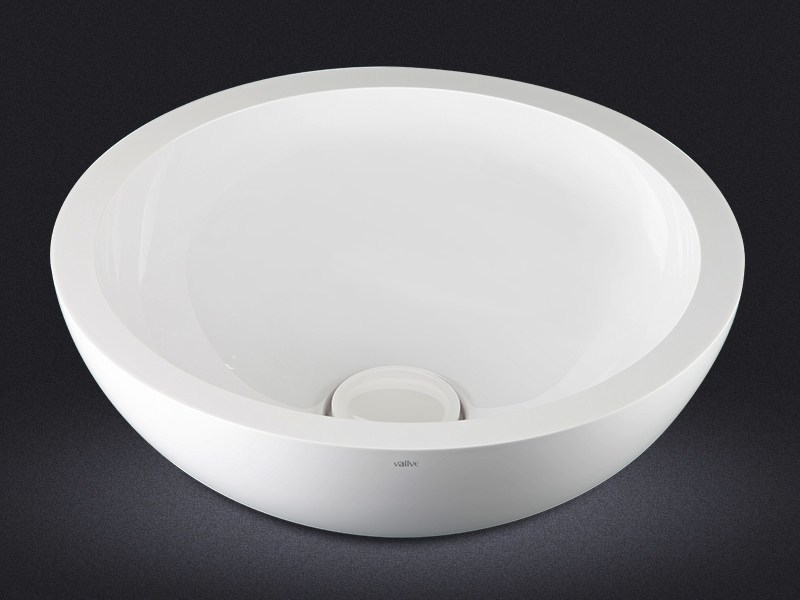 Countertop round resin washbasin DOLCE ROUND   Countertop washbasin by Vallvé