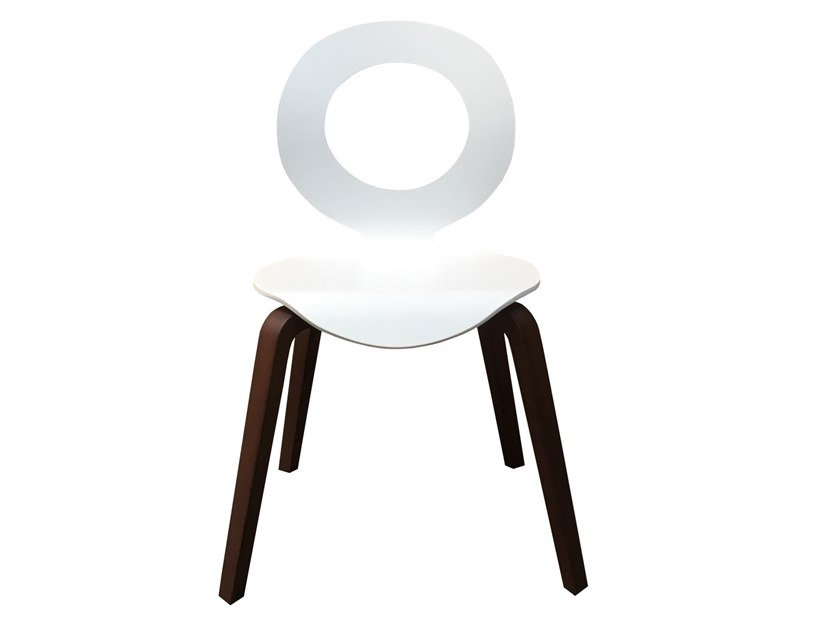 Medallion open back wooden chair DOLCE VITA 'O' DESIGN by Italcollections