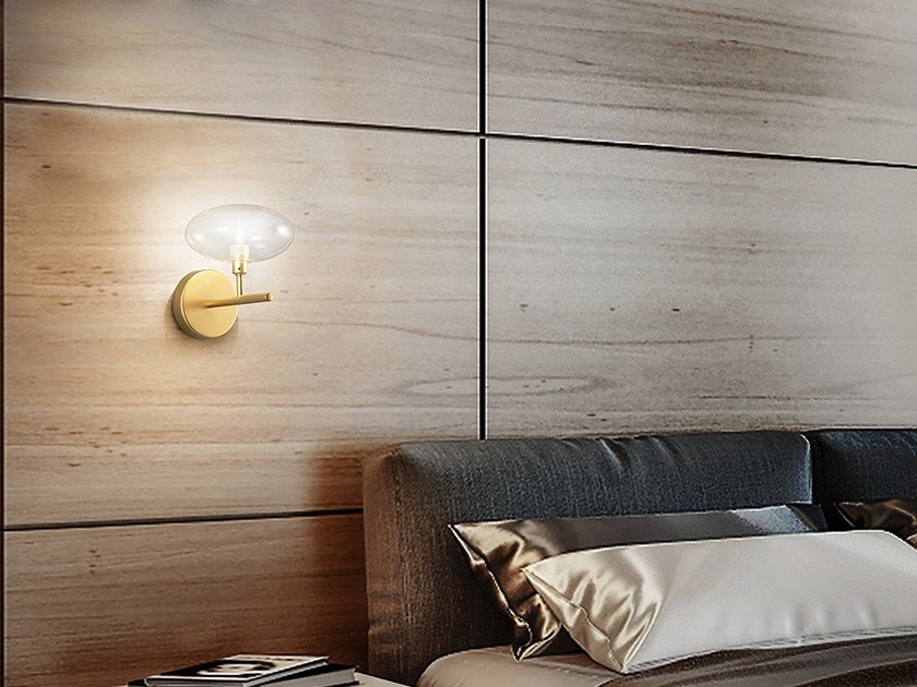 Glass wall lamp DOLCE Ø 17 by Metal Lux