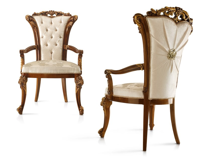 Upholstered fabric chair with armrests DOLCEVITA   Chair with armrests by A.R. Arredamenti