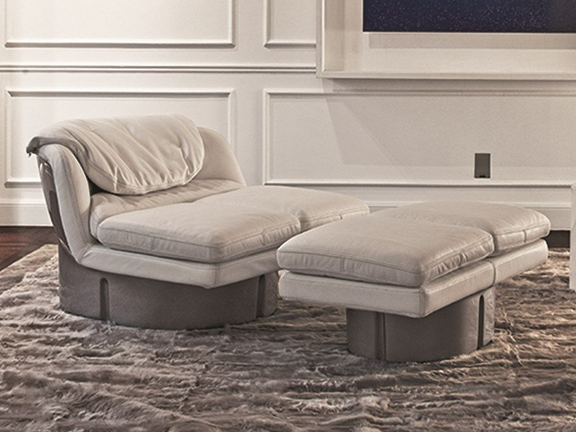 Double leather garden bed DOLCEVITA | Leather garden bed by Longhi
