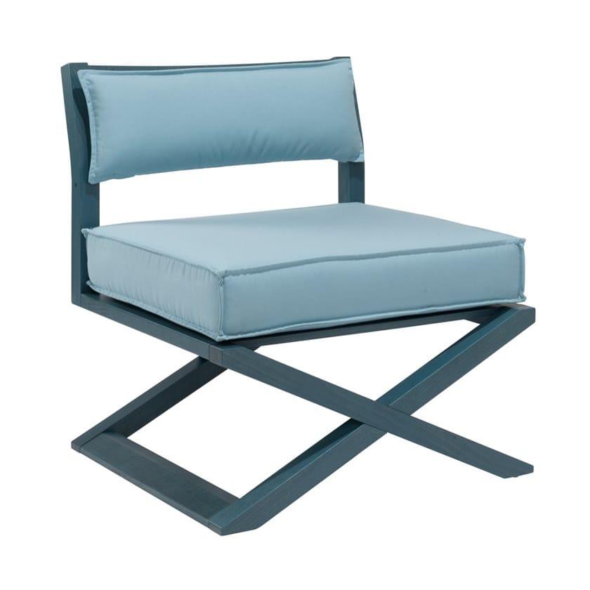 Garden upholstered multi-layer wood easy chair DOLCEVITA TSPL03SB by New Life