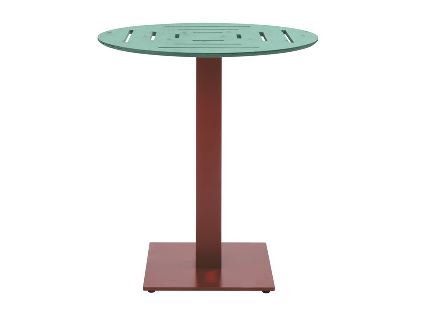 Round multi-layer wood high side table DOLCEVITA TSTV04 by New Life