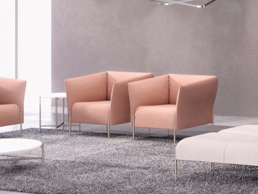 Fabric armchair with armrests DOLLY | Armchair by ESTEL GROUP
